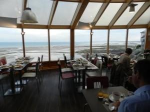Blick auf das Meer vom Hotel